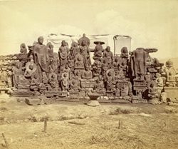 Group of statues of Buddhas and Bodhisattvas excavated at Lorian Tangai, Peshawar District 10031042